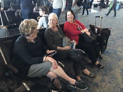 Just Ladies Traveling Travelers at Airport