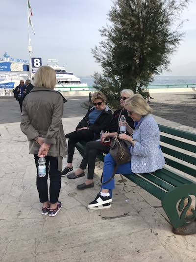 Travelers on the beach cruise Just Ladies Traveling